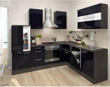 Respekta Premium L Küche Eiche-grau schwarz (260x200 cm)