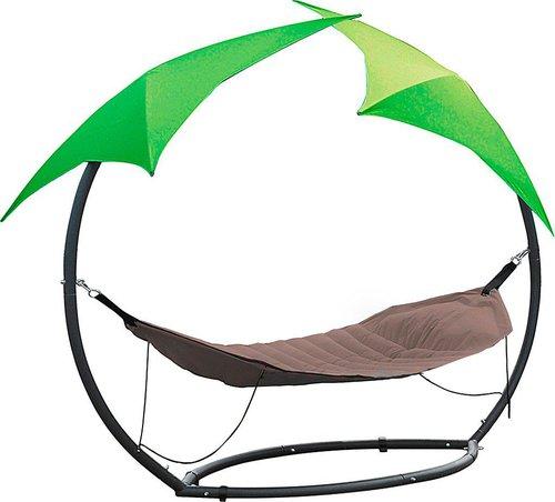 leco relax h ngematte mit 2 sonnenschirmen preisvergleich. Black Bedroom Furniture Sets. Home Design Ideas