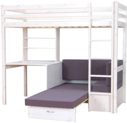 thuka hochbett mit g stebett und schreibtisch g nstig kaufen. Black Bedroom Furniture Sets. Home Design Ideas