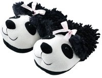 Aroma Home Fuzzy Friends Slippers Panda
