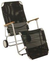 Stern Beach Carry Liegestuhl schwarz