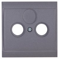 Kopp Antennenabdeckung TV/RF, silber-anthrazit (313615188)