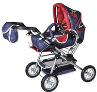 Knorr Puppenwagen Twingo denim & red