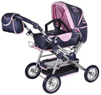 Knorr Puppenwagen Twingo pink butterfly