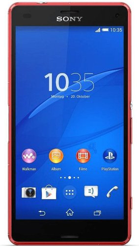 Sony Xperia Z3 Compact Mandarin Red ohne Vertrag