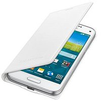 Samsung Flip Cover Metallic Weiß (Galaxy S5 Mini)