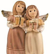 Goebel Andächtig Engel Hier sind die Geschenke champagner
