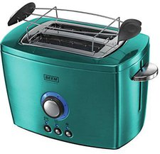 Beem Nobilis 2-Schlitz-Toaster Edelstahl-Petrol