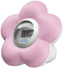 Avent Digitales Bad- und Raumthermometer rosa