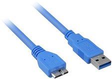 Sharkoon USB 3.0 Kabel 3m blau