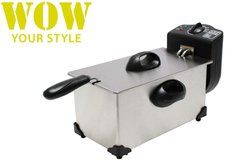 WOW Your Style Fritteuse 2000 Watt 3 Ltr. Edelstahl