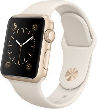 Apple Watch Sport Aluminiumgehäuse 38mm grau mit Sportarmband black