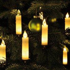 Haushalt International Echtwachs-Lichterkette 15 LED-Kerzen