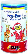 C. Kreul Hobby Line Window Color Pen Box Winterspaß