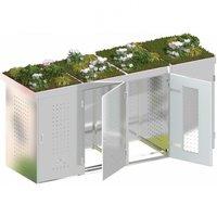traumgarten m lltonnenbox nadelholz f r 4 x 240 liter tonnen mit klappdeckeln preisvergleich ab. Black Bedroom Furniture Sets. Home Design Ideas