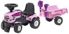 Falk Bikes Traktor mit Anhänger Prinzessin