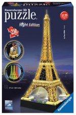 Ravensburger Eiffelturm bei Nacht