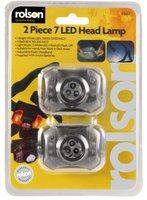 Rolson 2pc 7 LED Head Lamp