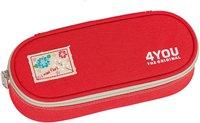 4You Pencil Case mit Geodreieck Just Red