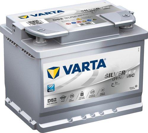 Varta Silver Dynamic AGM 12V 60Ah D52
