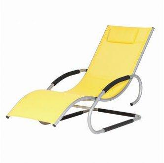 Siena Garden Adria Swingliege (Alu-Textilfaser) silber-gelb