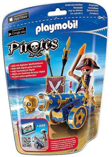 Playmobil Pirates - Blaue App-Kanone mit Piraten-Offizier (6164)