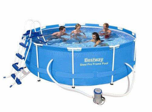 bestway steel frame pool 366 x 100 cm mit filterpumpe preisvergleich ab 169 50. Black Bedroom Furniture Sets. Home Design Ideas