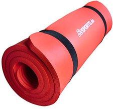 ScSPORTS Gymnastikmatte 190 x 60 x 1,5 rot
