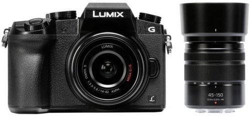 Panasonic Lumix DMC-G70 Kit 14-42 mm + 45-150 mm schwarz