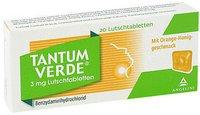 CSC Pharmaceuticals Tantum Verde 3 mg Lutschtabletten mit Orange-Honiggeschmack (20 Stk.)