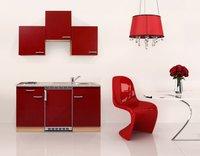 Respekta Küchenzeile 150cm Buche rot (KB150BR)