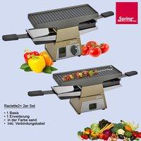 Spring Switzerland Raclette 2+ 2er-Set schwarz