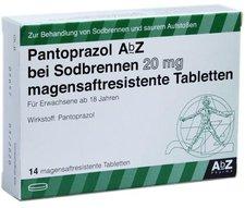 AbZ Pantoprazol Sodbrennen 20 mg magensaftresitente Tabletten (14 Stk.)