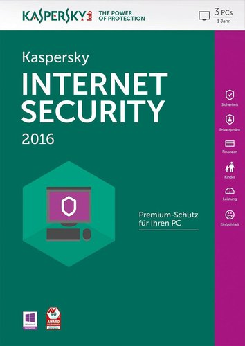 Kaspersky Internet Security 2016 (3 User) (1 Jahr) (DE) (Win) (FFP)