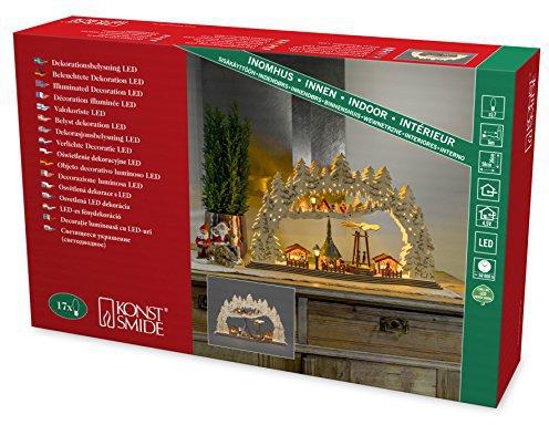 Konstsmide LED Holzleuchter Weihnachtsmarkt (2868-100)