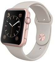 Apple Watch Sport 42mm Sportarmband stein
