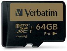 Verbatim Pro+ microSDXC 64GB UHS-I U3 (44034)