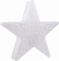 8 seasons Shining Star Merry Christmas 60cm weiß