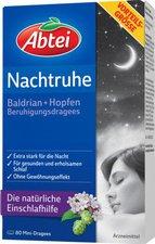 Abtei Nachtruhe Baldrian + Hopfen Dragees zur Beruhigung (80 Stk.)