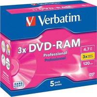 Verbatim DVD-RAM 4,7GB 120min 3x 5er Cartridge Typ 4