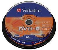 Verbatim DVD-R 4,7GB 120min 16x Matt Silver 10er
