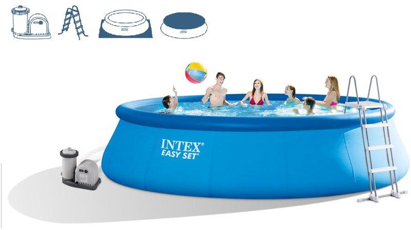 Intex pools easy pool set 549 x 122 cm mit for Preisvergleich pool