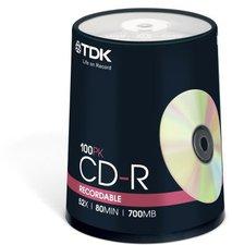 TDK CD-R 700MB 80min 52x 100er Spindel
