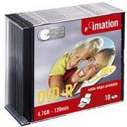 Imation DVD-R 4,7GB 120min 16x bedruckbar 10er Slimcase