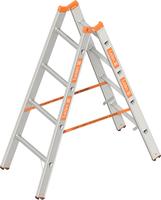 layher 1039 Topic Stehleiter 9 Sprossen