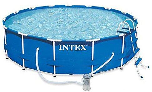 Intex pools metal frame pool 457 x 122 cm komplett set for Stahlwand pool 457x122