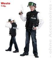 Gurimo-Tex Kinderkostüm Polizei Einsatzweste schwarz