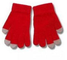 Telefingers Universal Touchscreen Handschuhe Rot-Grau (Größe S/M)