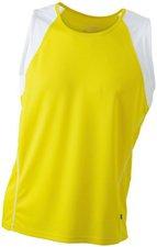 James & Nicholson Men's Running Tank Atmungsaktives Herren Tankshirt gelb JN 395