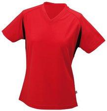 James & Nicholson Ladies Running T-Shirt (JN316) rot